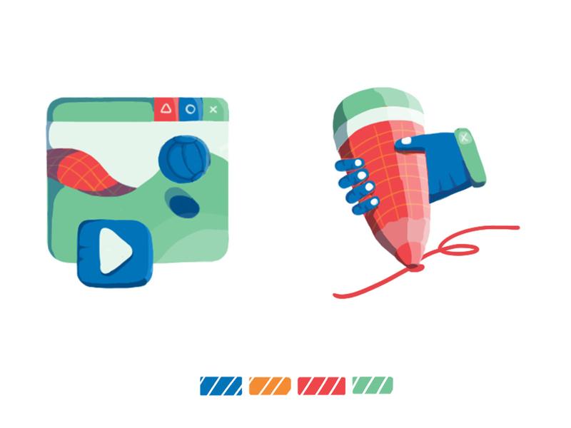 Set icons app web icons drawing photoshop illustration