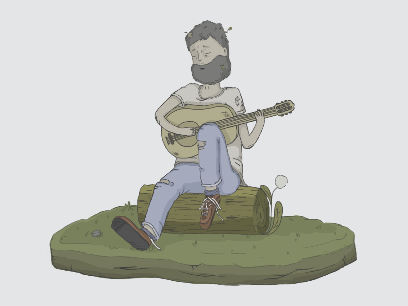En el bosque 🍂 illustrator design personaje photoshop drawing ilustration