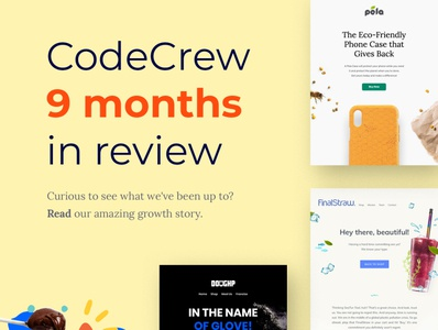 CodeCrew 9 Months In Review creative design web development services web development web design agency web design newsletter design email marketing email  agency digital marketing agency digital marketing