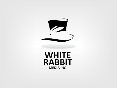 White Rabbit logo logo identity rabbit animal media white rabbit