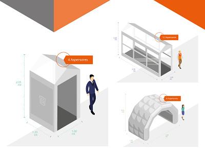 Sanitizing cabin illustration virus infographic chart people person isometric sanitizing health tunnel cabin digital art flat illustration
