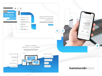 Hammurabi digital - Landing page shop ebook bookstore library book white shadow flat blue icon web app ux ui branding identity