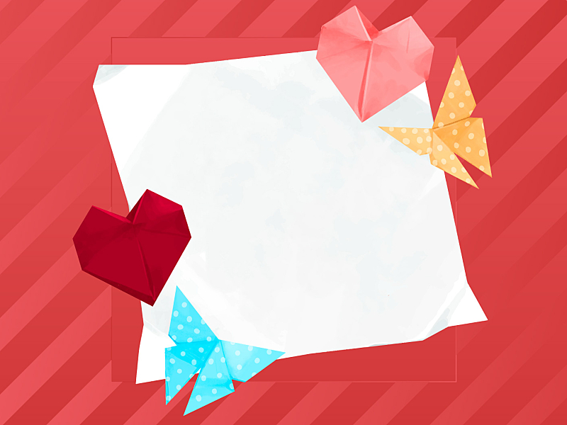 Happy Valentines Day Grußkarte Mit Papier Origami Rosa ... | 600x800