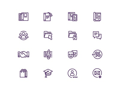 Sections icons