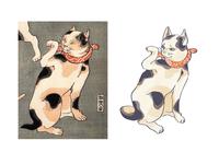 Japanese cat redraw