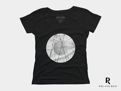 Women Scoop Neck T-Shirt Design - Circle