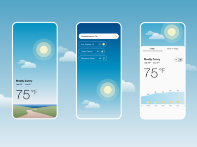 UI Challenge 037: Weather