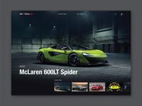 NetCarShow UI redesign: Desktop Landing Page
