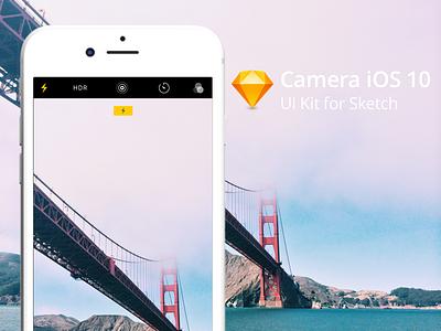 Sketch file of Apple Camera App, iOS 10 sketch camera ios apple