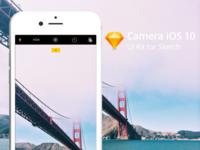 Sketch file of Apple Camera App, iOS 10