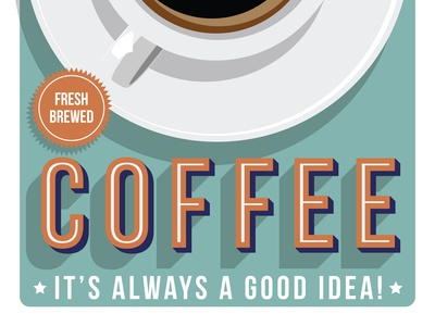 Coffee Poster Halftone