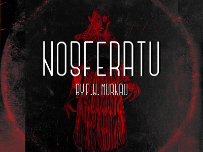 Nosferatu vampire murnau title movies illustration