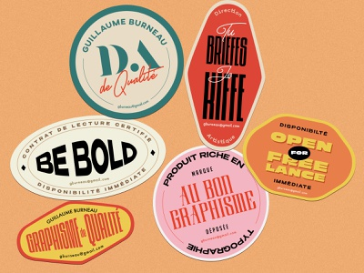 French Art Director self-promotion french selfpromotion stickers typogaphy art director graphic  design