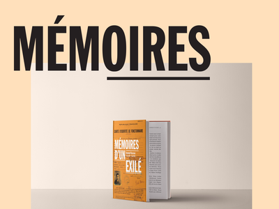 Memoires d'un exilé history memory typogaphy graphic  design book