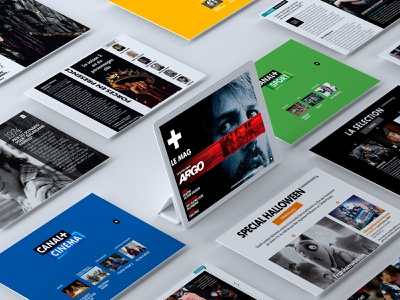 CANAL+ and CANALSAT online magazine ux designer digital magazine design graphic  design