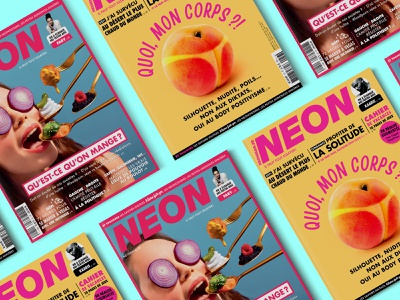 NEON magazine media neon typogaphy graphic  design art direction magazine