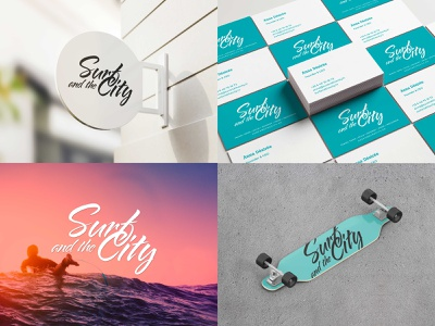 Surf and the City logo french website media outdoor surf identity guillaume burneau art director logo graphic  design