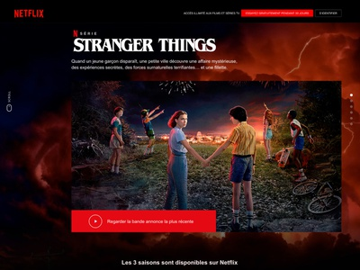 Netflix French website redesign user interface brancontent netflix art direction uxdesign graphic  design