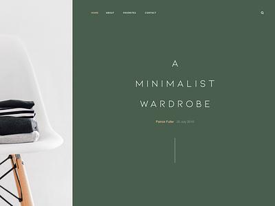 Victor website graphic  design minimalist minimalism fashion art director adobexd website