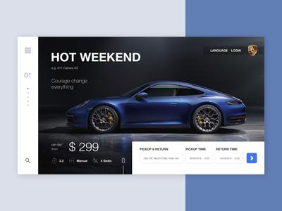Porsche rental concept