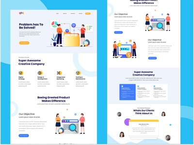 Creative Studio Landing Page web design creative studio web ui ux illustration design user interface