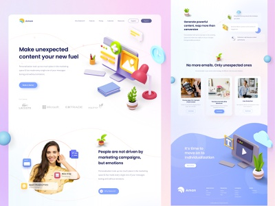 🐣 creative content landing page  🐣 buttons design illustration ux ui web website content landing page ui website design web design landing page 3d user interface