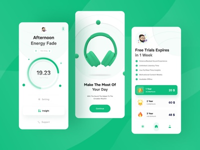 😴 Personalized Sound Apps 😴 application illustration ui ux design user interface mobile application music pricing on boarding diagram mobile app music apps mobile app design mobile apps