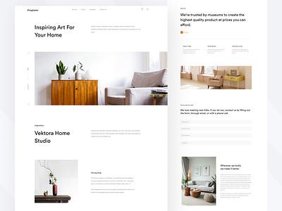 Inspiring Design Interior Service Landing Page home white clean minimalist design interior property interior web design landing page design ui ux user interface