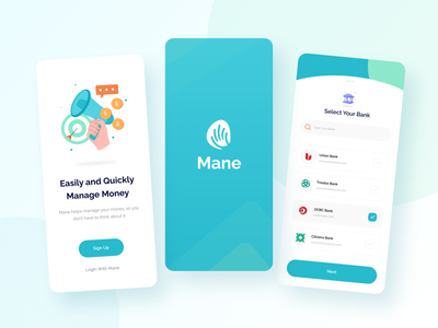 Mane - Money Management Apps vector user interface design application interface illustration minimalist clean mobile ux ui