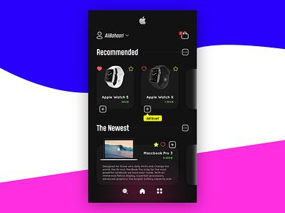 Apple Shopping Store brand app ui invision figma branding adobe xd vector design adobe illustrator