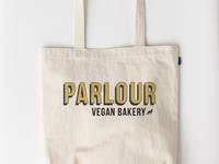 Tote bag mock-up for Parlour