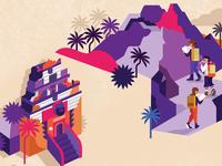 Bali Map Illustration