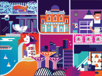 Going Places: Singapore City Map