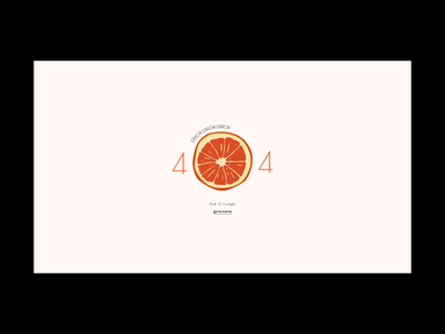 Fruit Hunger Page Not Found website web ui juice orange online store online shop shop hunger fruit page not found 404