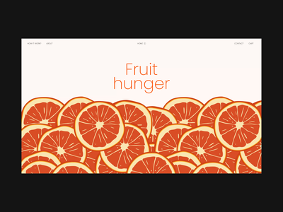 Fruit Hunger Main Screen hunger fruit illustration juice orange web website online store online shop ui