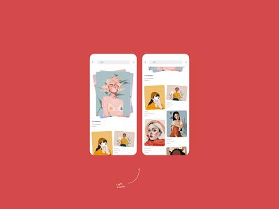 Illustration For You light dark parallax author design concept online shop online store ios ui app illustration