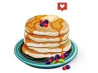 Food illustration/ Pancake