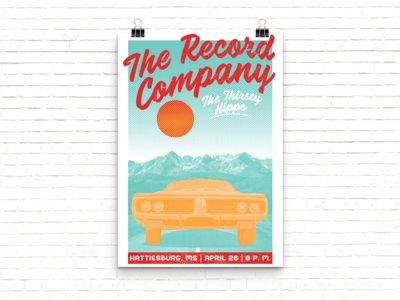 The Record Company Gig Poster