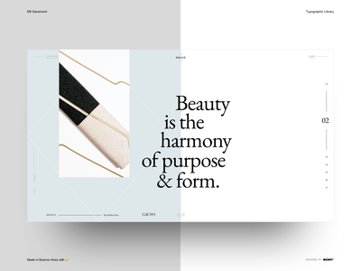 EB Garamond - Typographic Library - Example - 02 sketchapp webdesign website typography interaction design ux ui