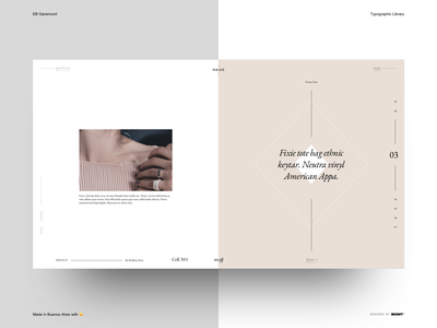 EB Garamond - Typographic Library - Example - 03 sketchapp website web design typography interaction design ux ui