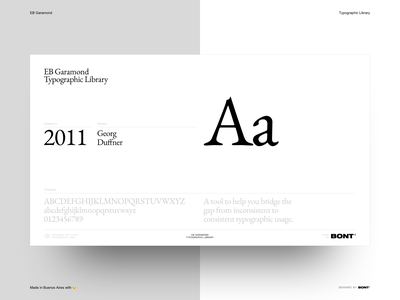 EB Garamond - Typographic Library - 05 typography sketchapp web design website interaction design ux ui