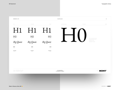 EB Garamond - Typographic Library - Black color - 06 web design website sketchapp typography interaction design ux ui