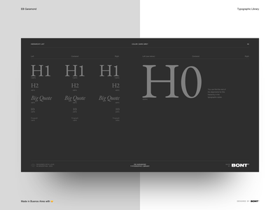 EB Garamond - Typographic Library - Dark Grey color - 07 sketchapp web design website typography interaction design ux ui