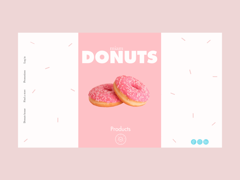 Donuts 1 landing ux ui white website love button font figmadesign foods products typography sweet web shop design futura baskerville