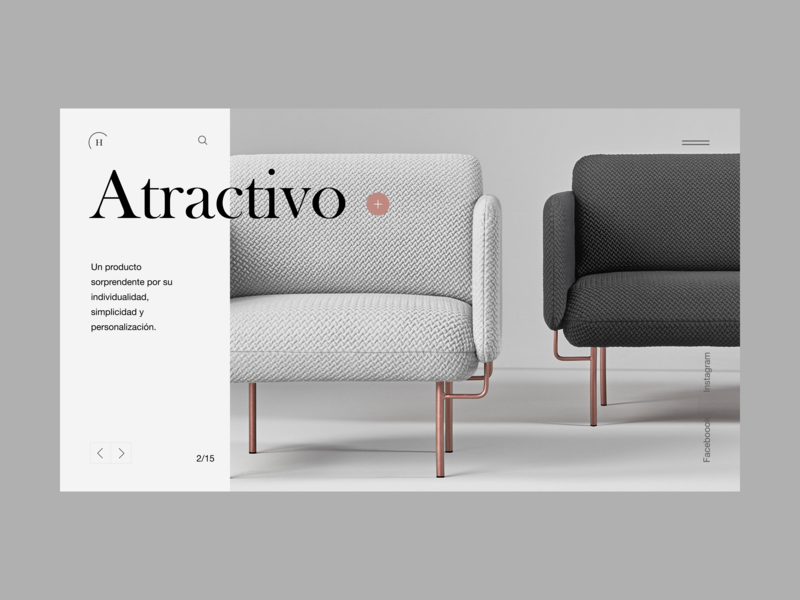 Home furniture 2 webdesign minimal desktop shop landing interaction design ux ui