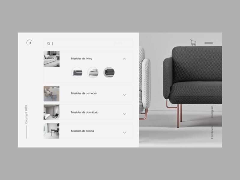 Home furniture 4 search minimal branding landing helvetica neue shop desktop web design ux ui interaction design