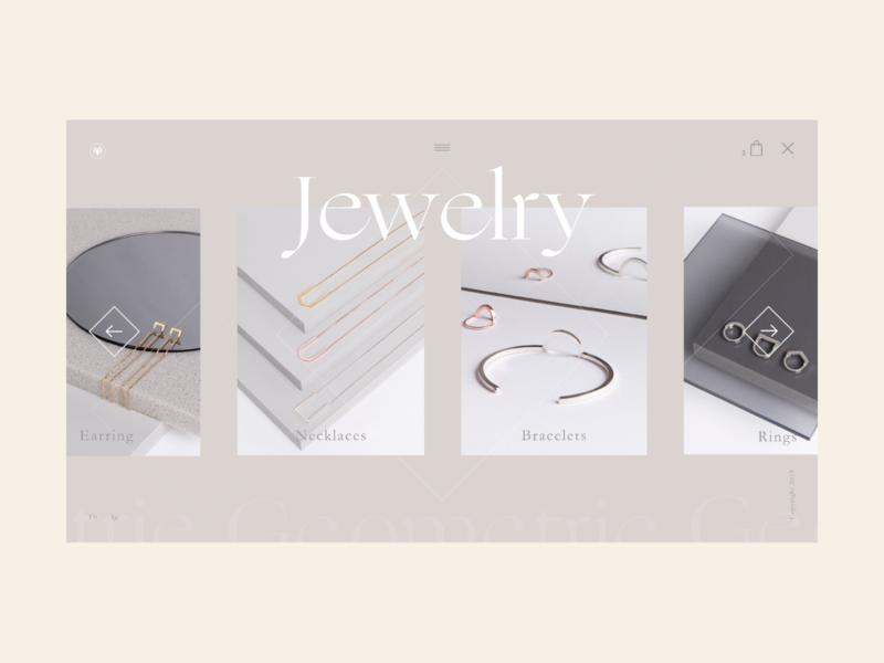 Jewelry shop 4 fashion web design icon geometric flat ecommerce website typography vector web design minimal desktop interaction design ux ui landing