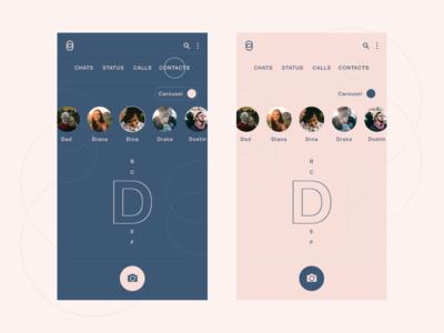 Messaging app 1 - Carousel