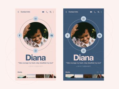 Messaging app 4 - Contact info