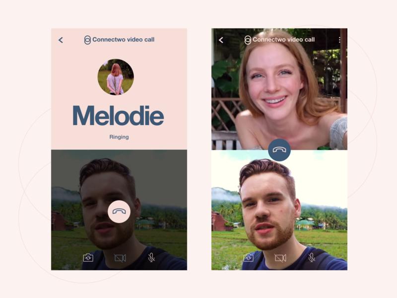 Messaging app 12 - Video Call pink logo design mobile app button app design icon typography flat vector helvetica neue interaction design ux ui